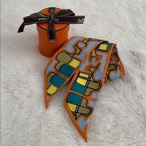 HERMÈS scarf multi color